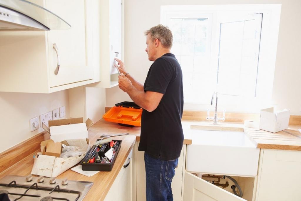 Man working in a kitchen