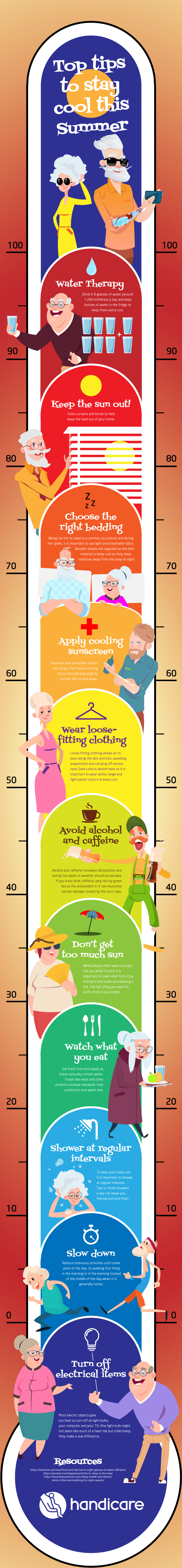 Tips for staying cool for older people